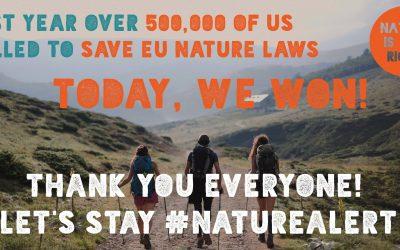 Una gran campaña pública salva las leyes de la naturaleza de la UE