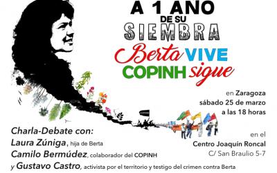 Berta Vive, COPINH sigue