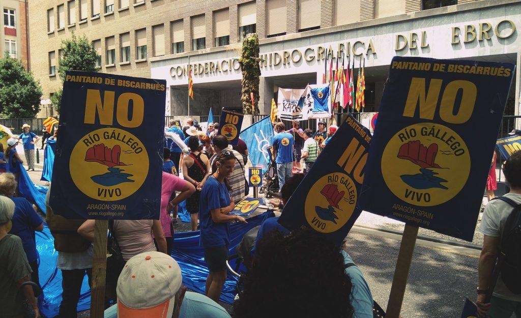 Manifestación en Zaragoza contra el pantano de Biscarrués