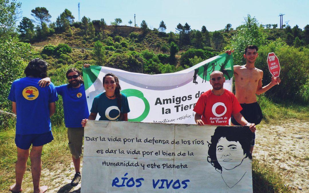 """La Galliguera da el """"Gran Salto"""" al río Gállego en defensa de su territorio"""